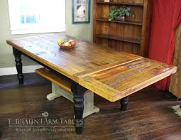 Country Pine Furniture Reclaimed Yellow Pine Farm Table With Company Board Extension E