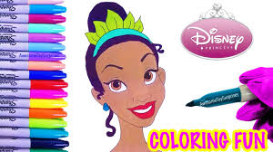 princess and the frog tiana coloring page fun coloring activity