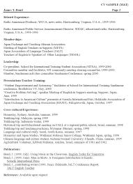 Resume Vitae Sample by 9 Curriculum Vitae Example Basic Job Appication Letter