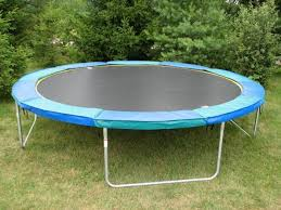 Backyard Gymnastics Equipment Backyard With Trampoline And Fences Fun Outdoor Backyard