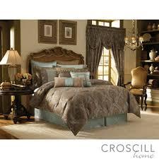overstock croscill home laviano aqua king size 4