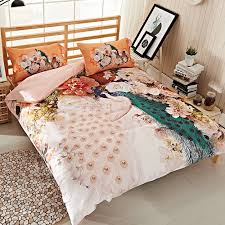 Peacock Feather Comforter Set Peacock Blue Duvet Covers Pea Feather Comforter Set Decor For