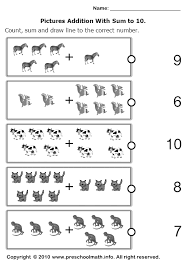 addition addition worksheet for kindergarten free math