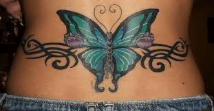 lower back butterfly custom design