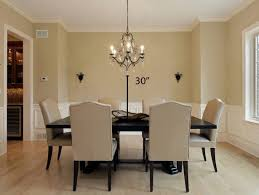 how high to hang a chandelier how high should a chandelier be from dining room table best plus to