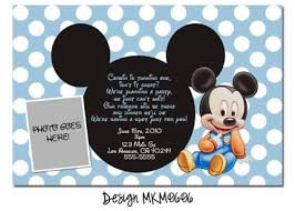 mickey mouse 1st birthday party invitation wording party ideas