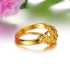 saudi gold wedding ring 2014 hot sale flower design charm 18k saudi gold jewelry ring