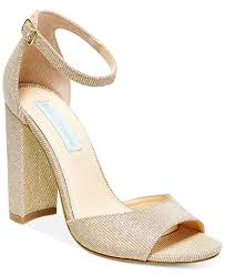 wedding shoes macys blue by betsey johnson block heel sandals evening bridal