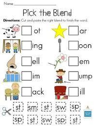 blending words worksheets worksheets