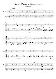 Violin Cover Sheet Music by Once Upon A December Violin Musescore