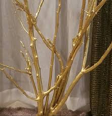 diy gold tree out of branches