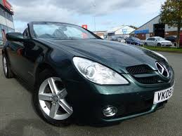 green mercedes used green mercedes slk for sale cheshire