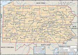 Google Map Of New York by State And County Maps Of Pennsylvania