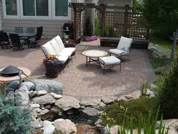 Small Patio Pavers Ideas by Backyard Paver Patio Ideas Renovation Kitchencoolidea Co Great