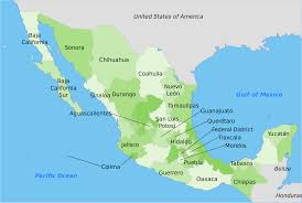 mexico map atlas mexico map elevation