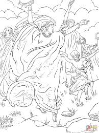 pillar cloud fire coloring pages eson