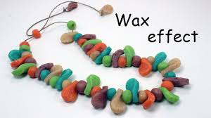 polymer clay translucent beads with wax crayon youtube