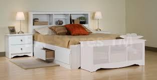 Bedroom Furniture Stores Online by Prepac Monterey 4 Pc Queen Size Storage Bedroom Set White