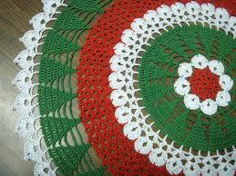 Chevron Tree Skirt Free Crochet Christmas Doily Patterns Free Crochet Patterns