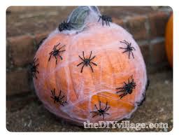 halloween sparkly spider pumpkin the diy village