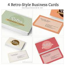 4 retro business card templates best business card psd templates