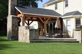 outdoor living featured post n beam addition adds to quality time