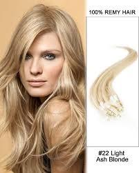 light ash blonde clip in hair extensions 22 light ash blonde straight micro loop 100 remy hair human hair