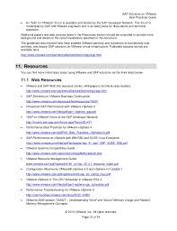 Vmware Resume Examples by Sap Solution On Vmware Best Practice Guide 2011