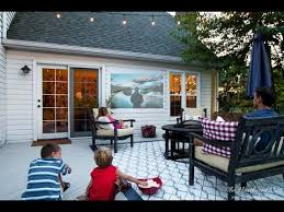 How To Make A Backyard Movie Screen by Easy Diy Outdoor Movie Screen Youtube