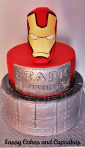 iron man cake by sassy cakes and cupcakes anna superheroes