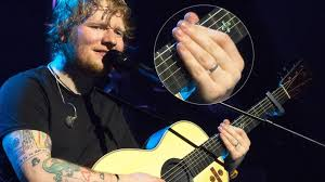 Ed Sheeran Has Ed Sheeran Already Got Married Silver Band On Ring Finger