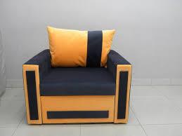 Orange Sofa Bed single chair sofa bed loca velvet fabric grey orange hastac 2011