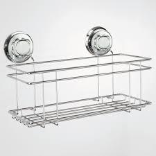 ventouse pour table basse en verre etagère murale porte flacons en acier chromé ventouses 30 4x15