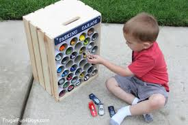 diy wooden crate storage and display for hot wheels cars diy wooden crate parking garage for hot wheels cars