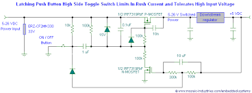 delayed latching push button on off power switch
