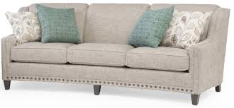 Curved Arm Sofa Slightly Curved Sofa With Sloping Track Arms And Nail Trim By