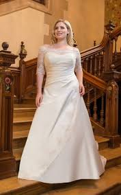 simple plus size wedding dresses with sleeves sleeved plus size