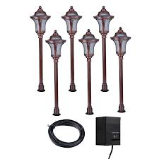 Portfolio Landscape Lighting Shop Portfolio Copper Path Light Kit At Lowes