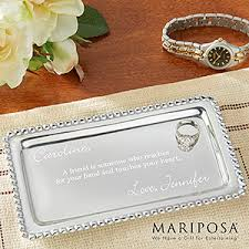personalized tray personalized jewelry tray mariposa string of pearls