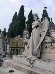 cemetery statues montjuïc cemetery barcelona spain atlas obscura