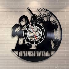 final fantasy vii vinyl record clock home decor art vinyl