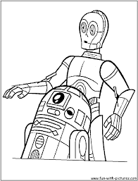 star wars coloring page r2 and 3po embroidery patterns