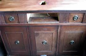 blue roof cabin buffet cabinet into a vanity