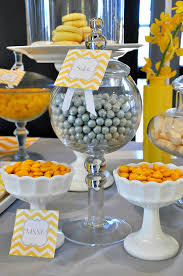 Fruit Decoration Ideas For Baby Shower Stunning Gray And Yellow Baby Shower Decorations 75 With