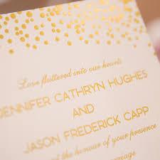 polka dot wedding invitations blush pink wedding invitations with foil polka dots and words