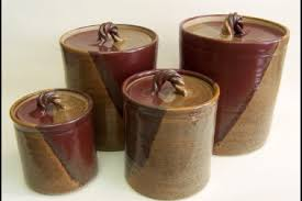 pottery canisters kitchen 33 rustic kitchen tin canisters vintage rustic metal canister set