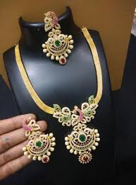 stone necklace designs images Multi color stone necklace 3000 rupees jewellery designs jpg