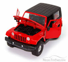 jeep toy jeep wrangler red jada toys bigtime kustoms 92178 1 24 scale