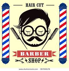 Decorative Styles Barber Shop Labels Banner Logo Hipster Hair Style With Vintage