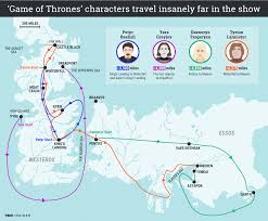 Essos Map Map Shows Vast Distances Game Of Thrones Characters Travel